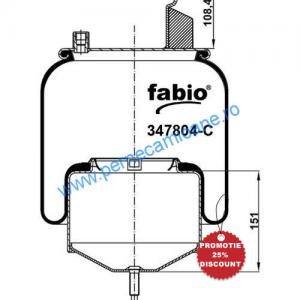 Perna aer VOLVO cod 167804-C , cu piston metalic
